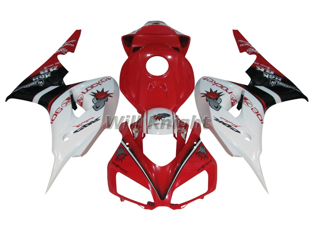 Injection Body Fairing for Honda CBR1000RR CBR1000 2006 2007 Red White Joe Rocket Edition