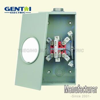 Ring Type Gtfp 200a 7 Jaw Rectangular Meter Base Socket - Buy 200a 7 Jaw  Rectangular Meter Base Socket,200a Power Meter Socket,200a 7jaw Meter Box