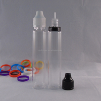 transparent pen shape 30ml plastic needle tip bottle unicorn bottle