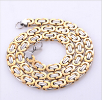 Fashion jewelry gold and silver plated Byzantine box chain