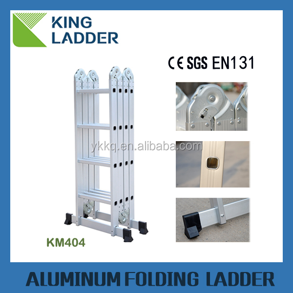 4x4 steps Multi Purpose Ladder Uniersal Aluminium Step Platform Utility Tool Shelf workshelf ladder