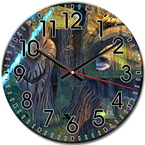 Arabic Numbers Frameless Round Wall Clock Inspired Disney Epic Mickey Decorative Silent 10 Inch / 25 cm Diameter