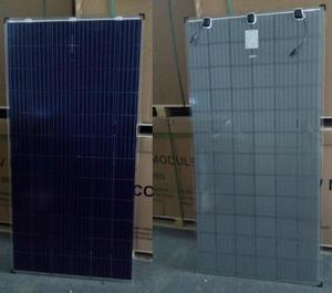Poly 320w transparent double glass solar panel for solar energy system