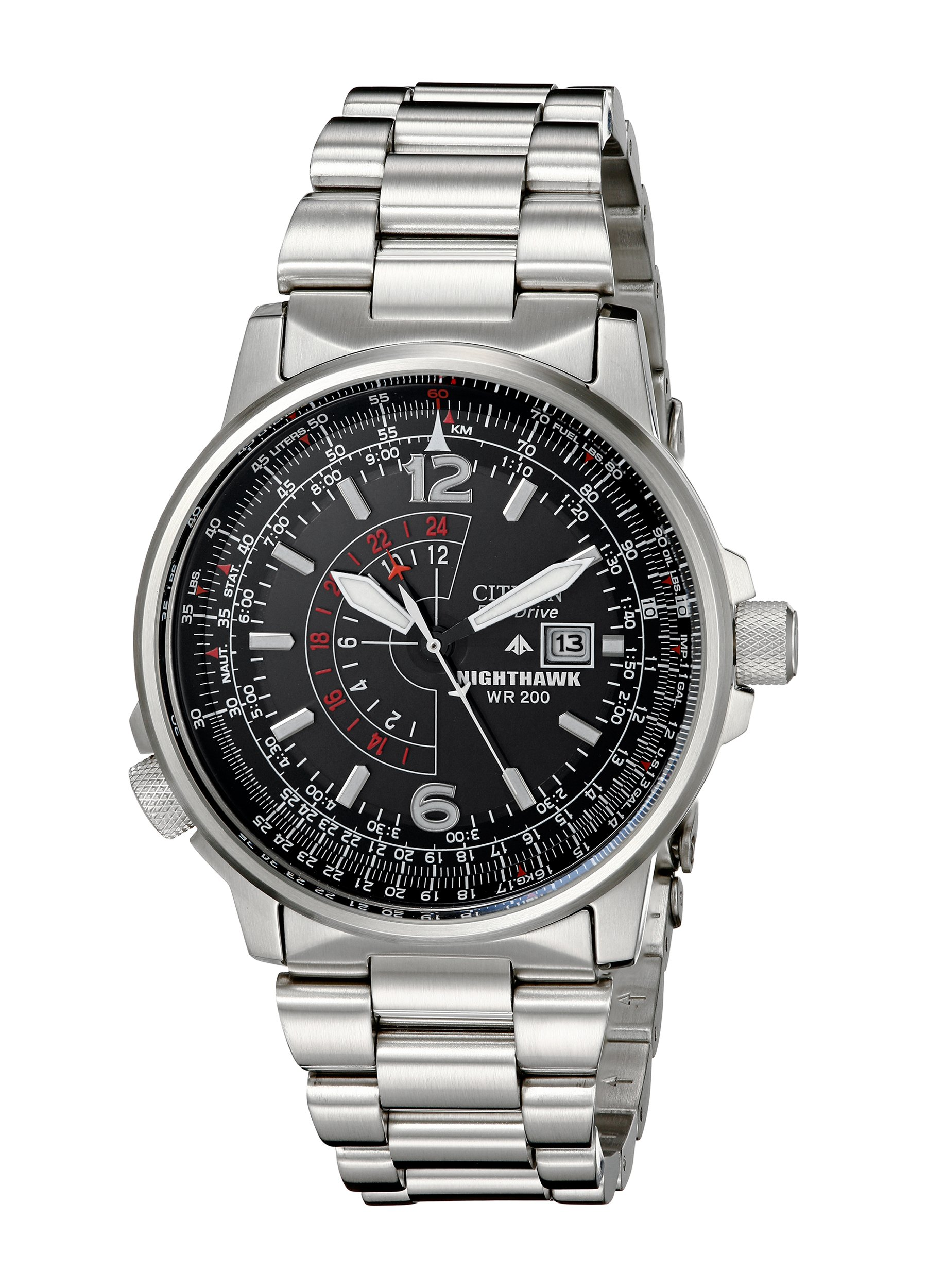0399d2e2d7b Citizen Men s Eco-Drive Promaster Nighthawk Dual Time Watch with Date