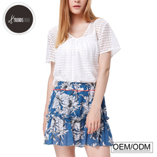 factory direct sales lace floral cotton adults ladies suit women skirts and blouse