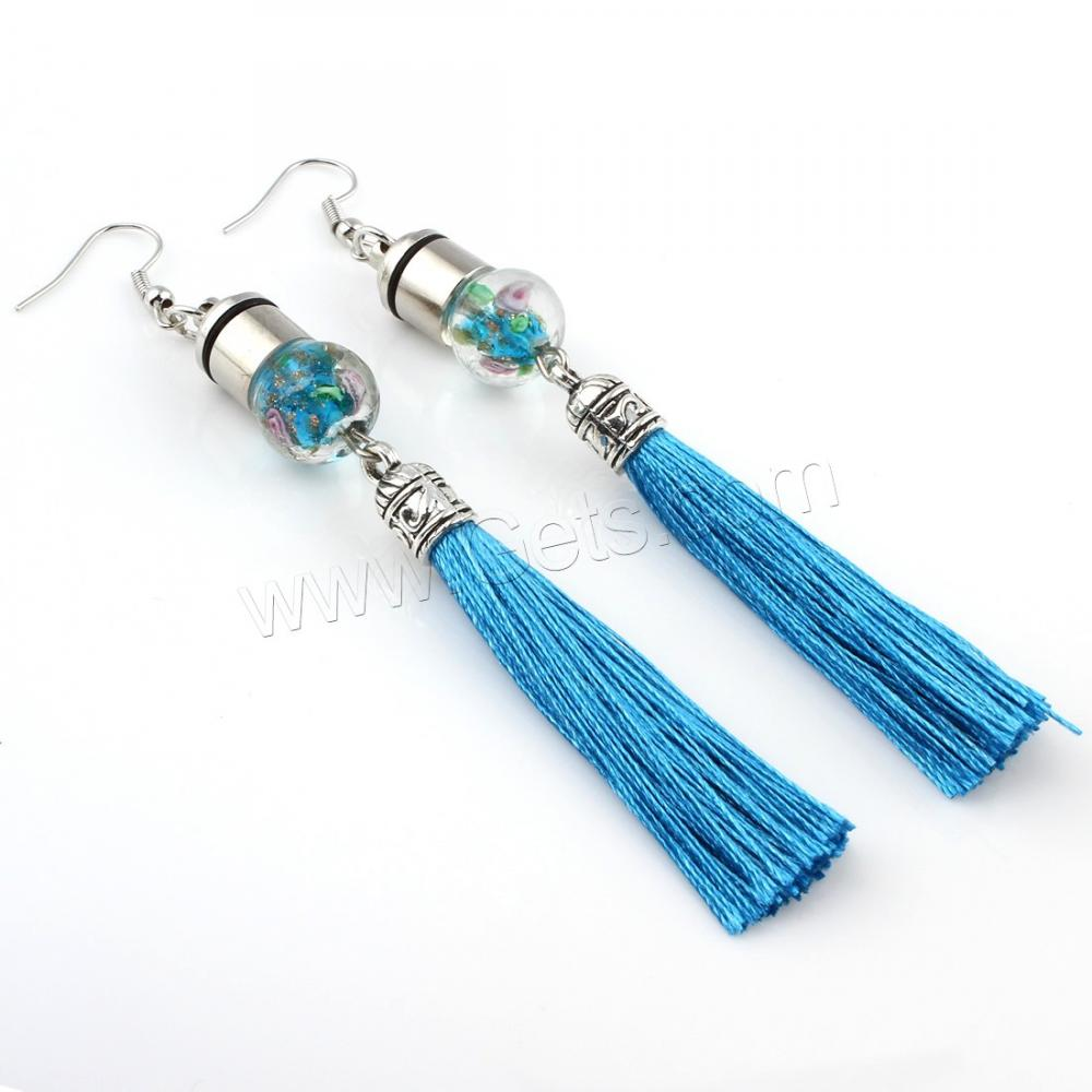 New Artilady thread jewelry green silver beautiful designed lasted tassel bridal earring designs