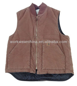 heavy duty canvas quilted vest
