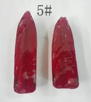 Factory Price Lab Created rough uncut 5# rubies corundum gemstones for sale