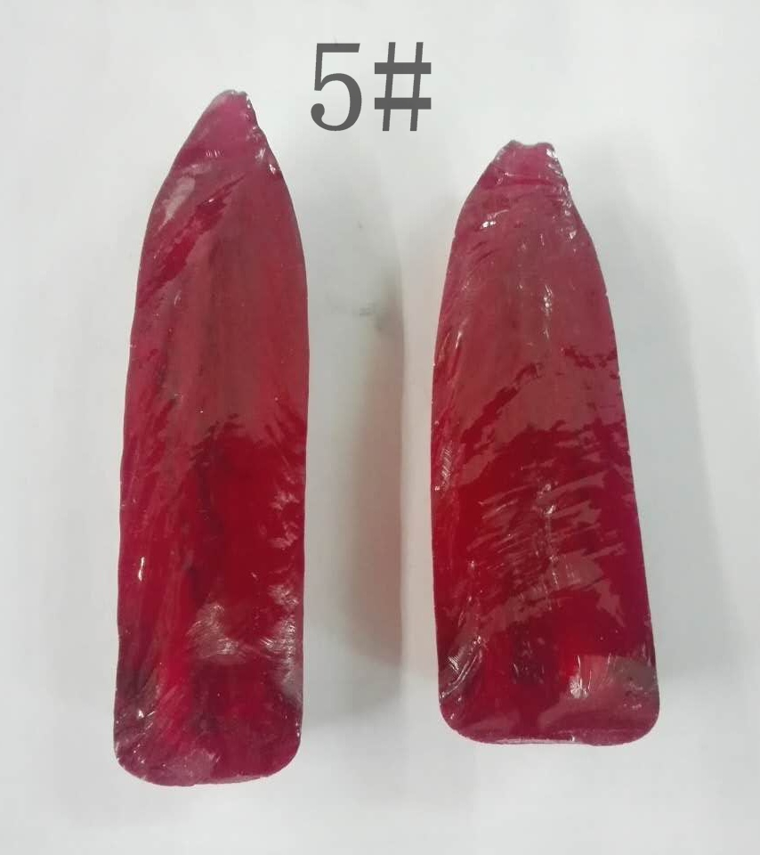 Factory Price synthetic rough uncut 5# rubies corundum gemstones for sale