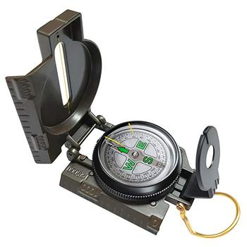Hot military multifunction compass army green plastic compass with magnifier