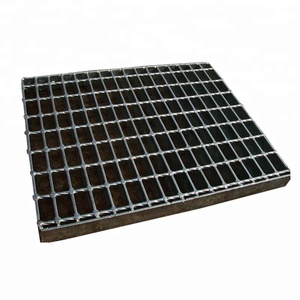 "Best quality metal bar safety steel grating step with hot dipped electro galvanized surface in 7/16"" to 1 3/16"""