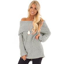 Wholesale New Arrival Fashion Off The Shoulder Comfy Woman Sweater