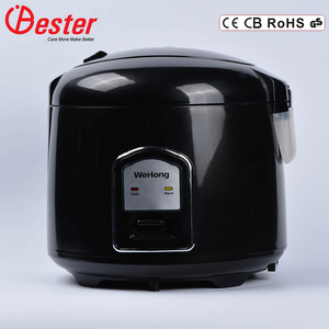 Automatic over heating cut-off protection keep warm full plastic housing 1.8L deluxe rice cooker