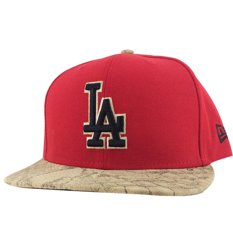 fef36d51bd8 New Era New York Yankees Red Black Brown Snakeskin Visor Strapback Snap Hat  Cap