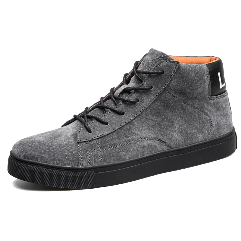 Casual footwear high-top leather shoes trend Martin boots Suede boots