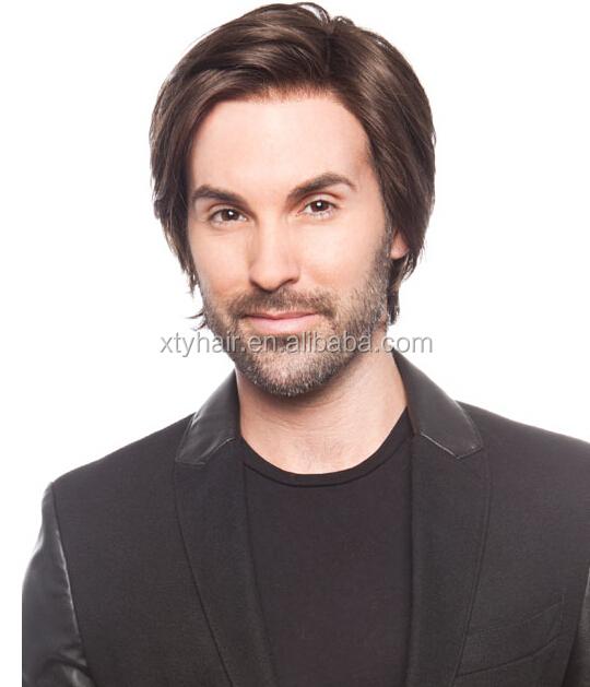 High quality natural hair wig pu human hair mens toupee hair wigs for men  price for 470ab8e0a