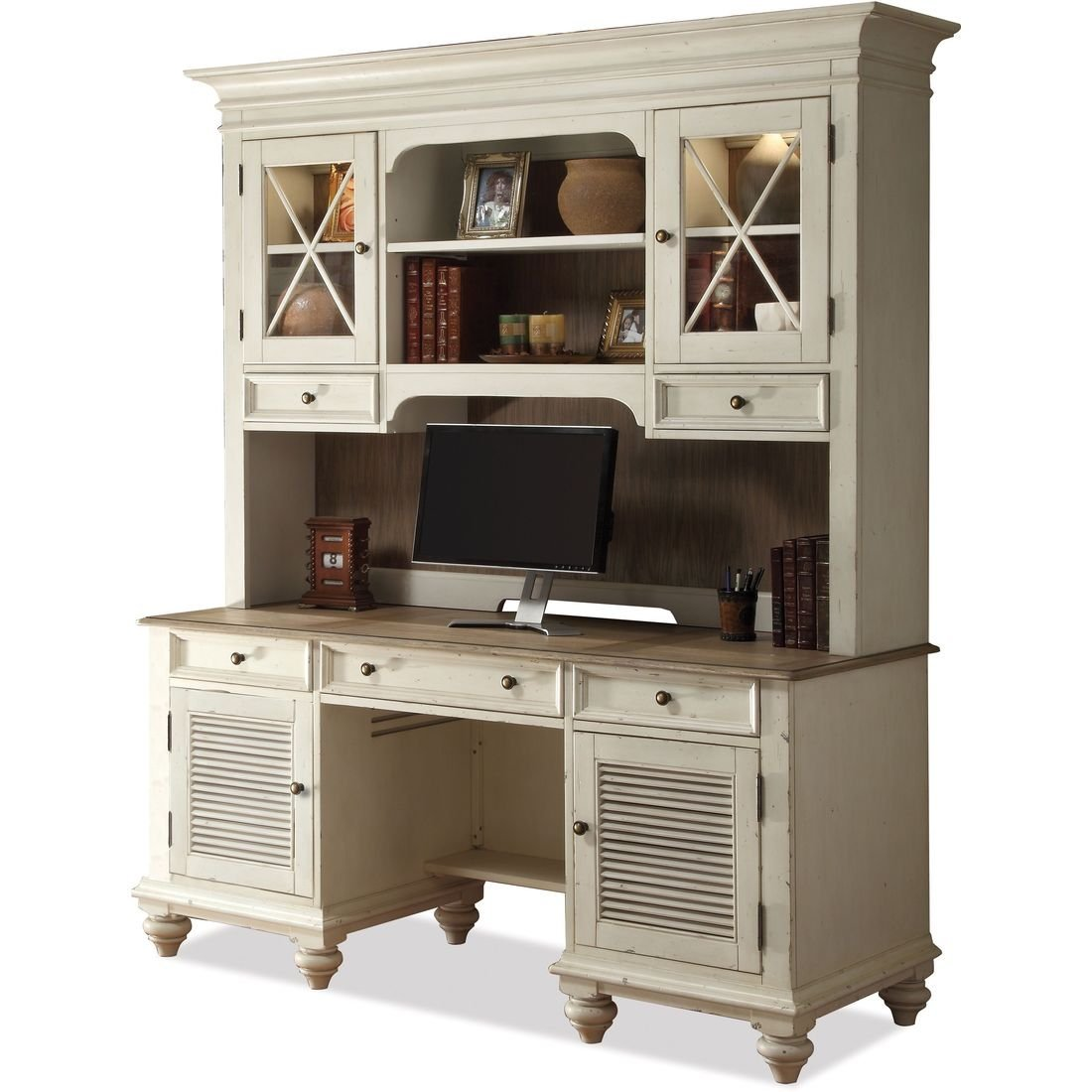 marvelfurniture pronto and in pedestal closed office hutch marvel double credenza raw