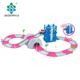 girl toys pink color railway Toys Racing Track Road Slot Car Set