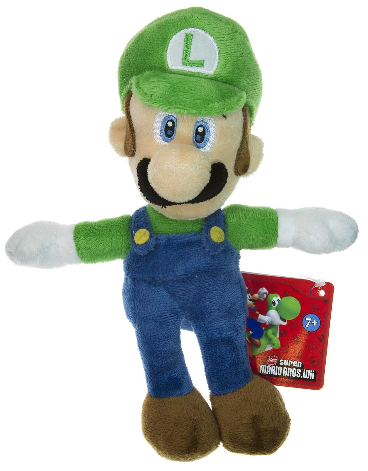 "Luigi ~8"" Plush - New Super Mario Bros Plush Series"
