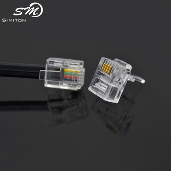 What is 6p4c cable 2 pair telephone cable color code