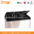 36L Rectangular Stainless Steel 3 compartment recycle bin