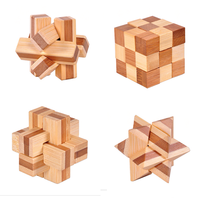 Custom Bamboo Wood Magic Cube Intellect Toy Wooden Educational Intellect Blocks Toys