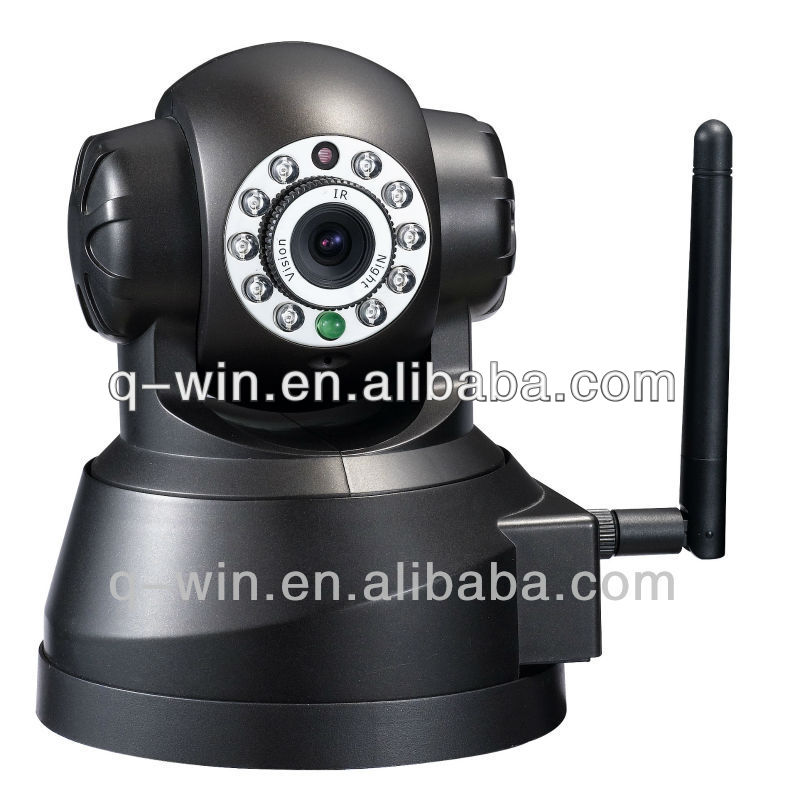 Low cost pan tilt wifi p2p ip camera with motion detection