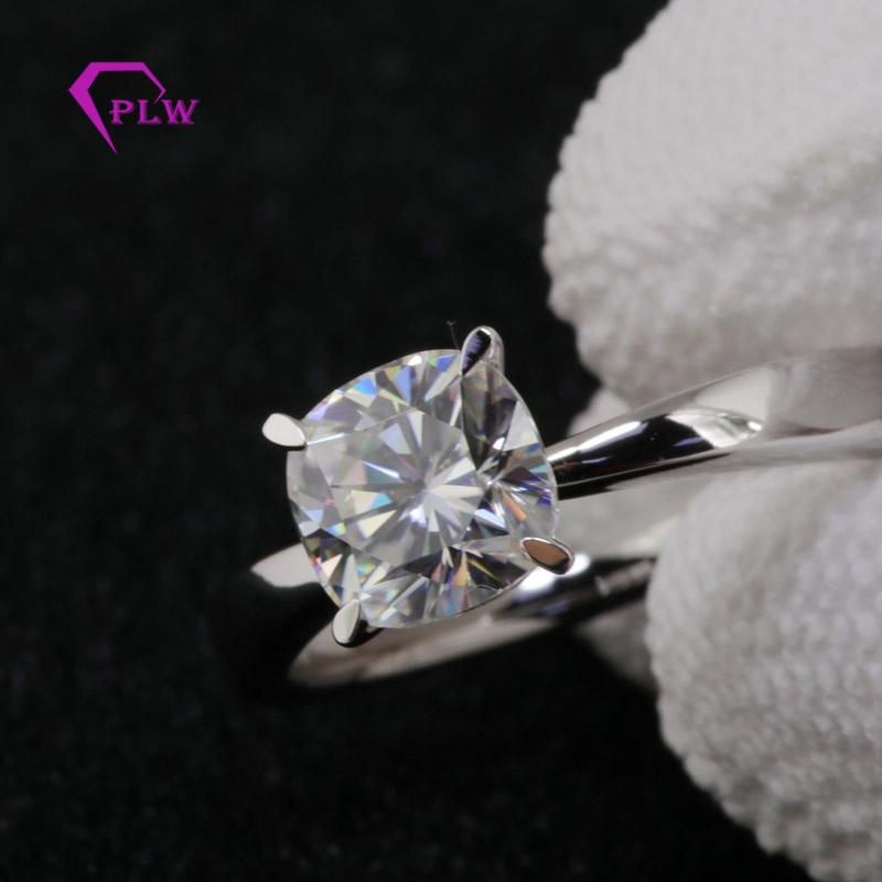 14k White Gold 2 Carat Elongated Cushion Cut Moissanite Solitaire Ring Buy Moissanite Solitaire Ring Cushion Cut Moissanite White Gold Ring Product