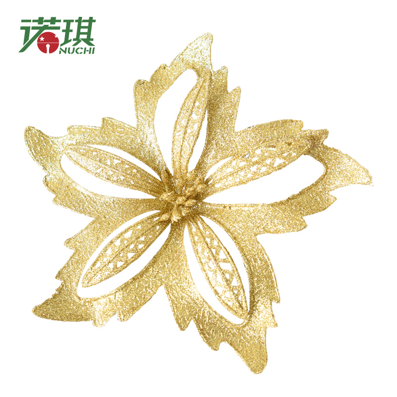 NUCHI Artificial glitter christmas <strong>flowers</strong> for decoration