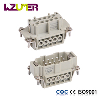 WZUMER HE010 Copper Wire cable Connector 10 pin Heavy Duty electronic Connectors Plug And Socket