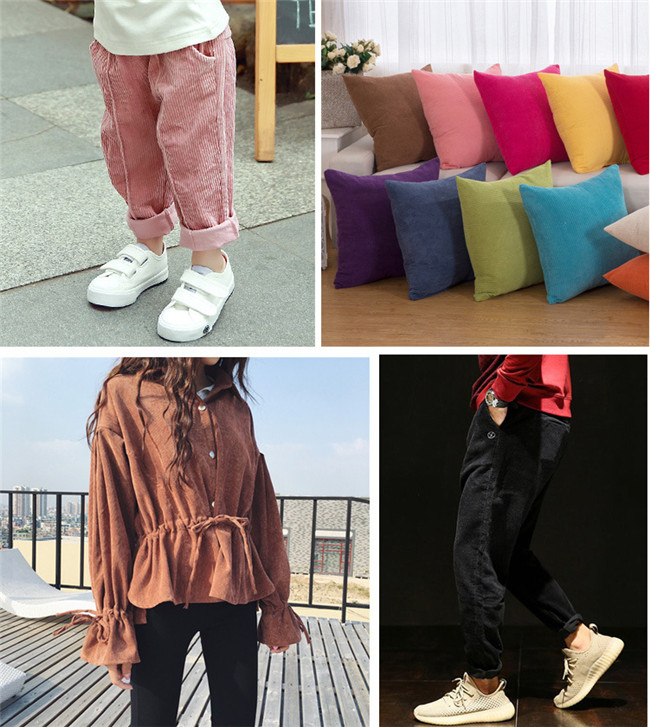 china manufacturer solid color cotton corduroy fabric ready stock