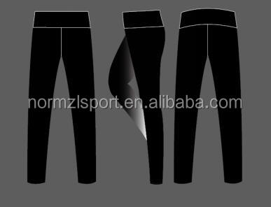 high waist women sports wear customized compression leggings pants