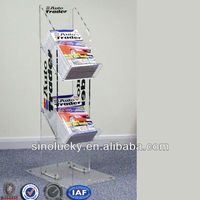 acrylic magazine display stands