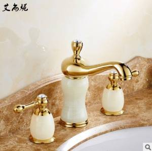 FAYM-European antique brass gold plated hot and cold lavatory faucet