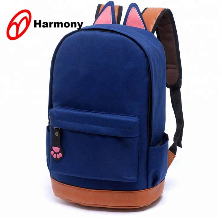 Dayanıklı temel stil ucuz moda çocuk sevimli mochila de escola kızlar için okul çantaları sırt çantası