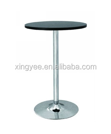 Modern Bar Furniture High Top Chromed Steel Base Stand Up Cocktail Bar  Tables Wood Top Mini Small Round High Bar Table   Buy High Table And ...