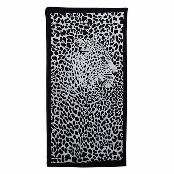 Printed Beach Towel Tablecloth Shawl Cope Beach Towel 30 inch x 60 inch (Leopard)