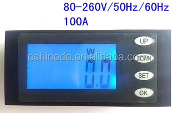 New AC Combo Meter Voltage 80-270V Current 0-100A Energy Power 22kW Running Time TH