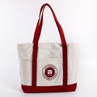16oz custom logo tote canvas shopping cotton bag