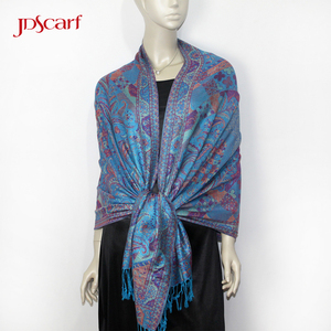 Latest dubai magic shawl 70 cashmere 30 silk paisley shawls new design pashmina scarf