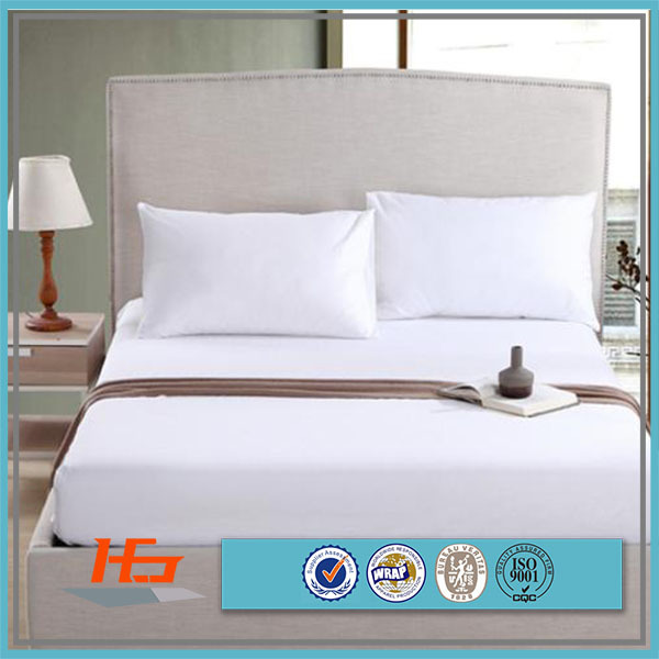100 % Cotton 200TC KIng size white Fitted Top Sheet