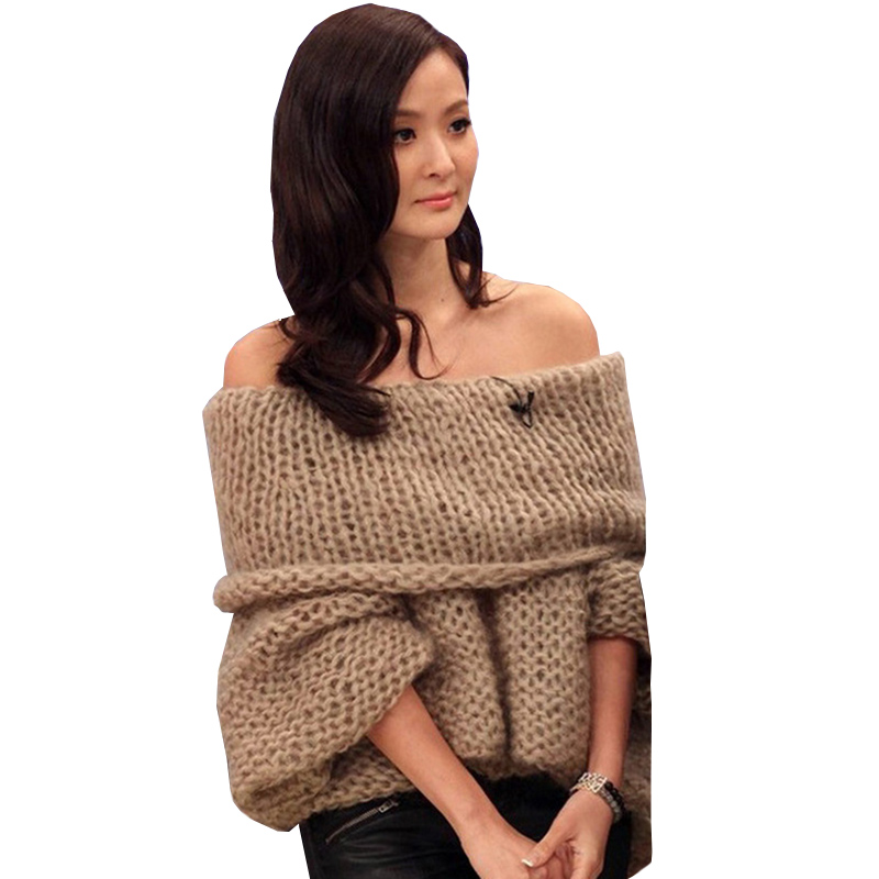 Womens Oversized Off The Shoulder Sweaters - Baggage Clothing