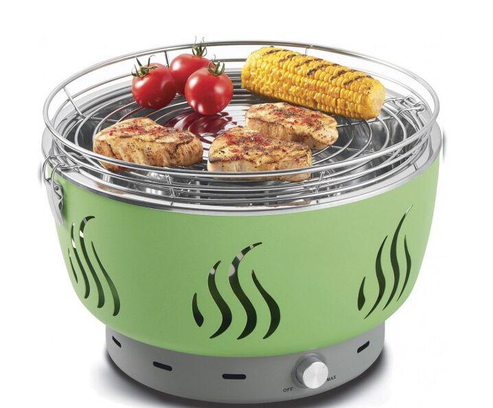 Barbecue a carbonella griglia interna portatile senza fumo - Barbecue portatile a carbonella ...