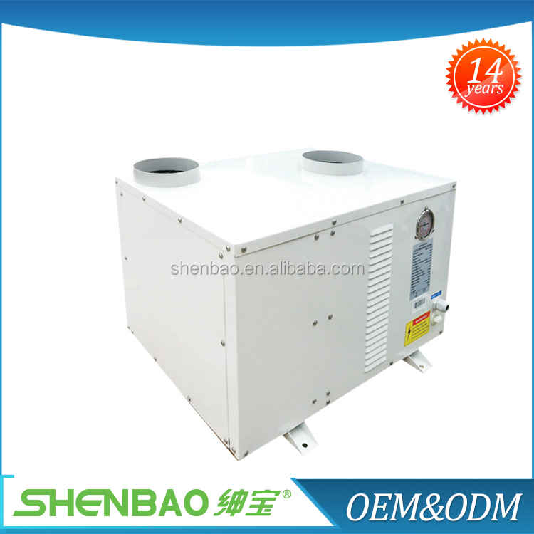 domestic hot water heating heat pump, home ventilation system exchanger heat recovery