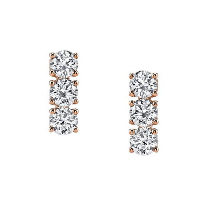 Fashion natural diamond earrings gold supplier jewelry