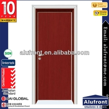 Elegant white PVC materials interior flush doors with simple and traditional design model