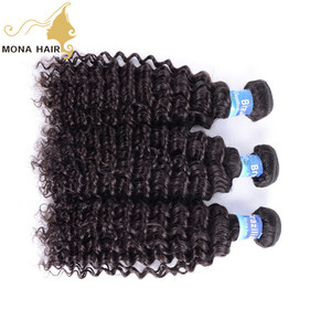 brazilian kinky curly remy hair weave black curly ponytail hair extension