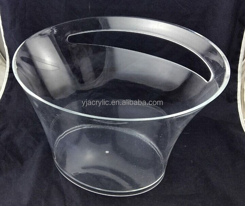 acrylic plastic led light ice bucket for nightclub bar/hotel/wineshop/winehouse,ISO Factory Product