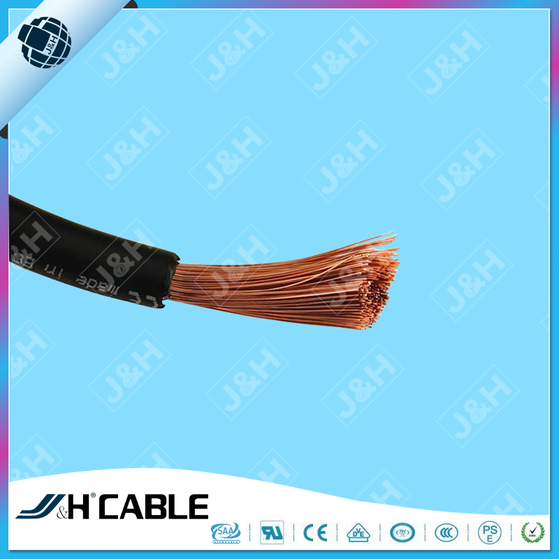 Welding Wire Black Rubber Flexible 10mm2 16mm2 25mm2 Oxygen Free Copper 200amp
