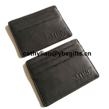 Card holder with custom brand and logo or artwork